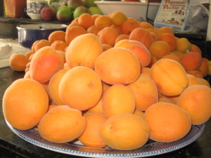 organic apricots from our home garden